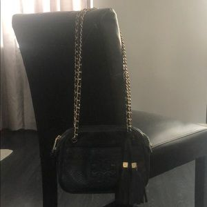 Tory Burch black cross body chain purse